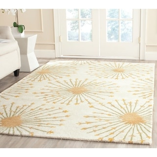 Safavieh Bella Contemporary Handmade Beige/ Gold Wool Rug (9' x 12')