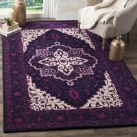 Safavieh Bellagio Handmade Bohemian Purple/ Ivory Wool Rug - 8' x 10'