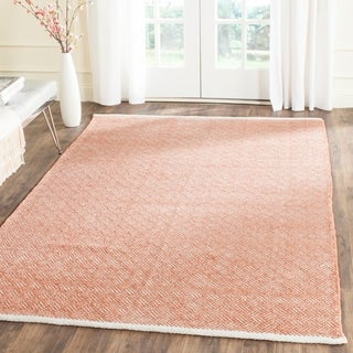 Safavieh Boston Contemporary Orange Cotton Rug (9' x 12')