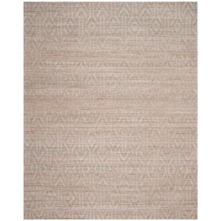 Safavieh Hand-Woven Cape Cod Blue/ Rust / Cotton Jute Rug (9' x 12')