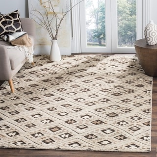 Safavieh Challe Contemporary Hand-Knotted Grey Wool Rug (8' x 10')