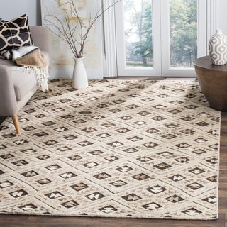 Safavieh Challe Contemporary Hand-Knotted Grey Wool Rug (9' x 12')