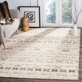 Safavieh Challe Contemporary Hand-Knotted Natural Wool Rug (8' x 10')