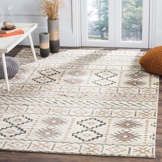 Safavieh Challe Contemporary Hand-Knotted Camel Wool Rug (8' x 10')