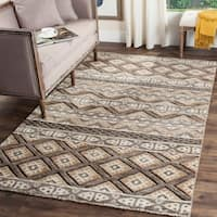 Safavieh Challe Contemporary Hand-Knotted Ivory Wool Rug (9' x 12')
