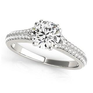 Transcendent Brilliance 14k Gold 1 1/4ct TDW Double Diamond Row Engagement Ring (G-H, VS1-VS2)