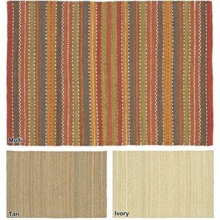 "Artist's Loom Flatweave Contemporary Solid Pattern Jute Rug (3'6""x5'6"")"