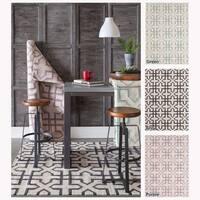Artist's Loom Flatweave Contemporary Geometric Pattern Wool Rug (3'x5') - 3' x 5'