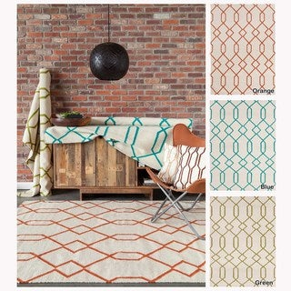 Artist's Loom Flatweave Contemporary Geometric Pattern Wool Rug (3'x5') - 3' x 5' (3 options available)