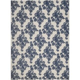 Safavieh Cottage Laverna Indoor/ Outdoor Rug (9 x 12 - Light Grey/Royal Blue)
