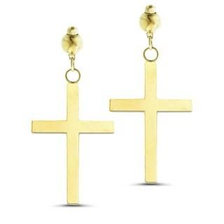 Marc & Ivy 14k Yellow Gold Small Cross Post Earrings