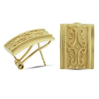 Marc & Ivy 14k Yellow Gold Etruscan Omega-back Earrings