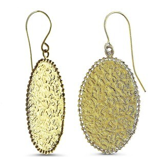 Marc & Ivy 14k Yellow Gold Oval Textured Earrings