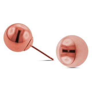 Marc & Ivy 14k Rose Gold 8-millimeter High Polish Ball Earrings