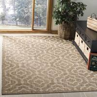 Safavieh Courtyard Contemporary Indoor/Outdoor Brown/ Bone Rug - 9' x 12'