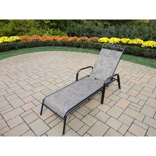 Oakland Living Corporation Radiance Brown Metal/Synthetic Foldable Sling Chaise Lounge