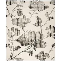 Safavieh Dip Dye Vintage Handmade Ivory/ Charcoal Wool Rug - 10' x 14'