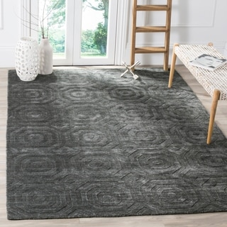 Safavieh Elements Modern Geometric Dark Grey Rug (8' x 10')