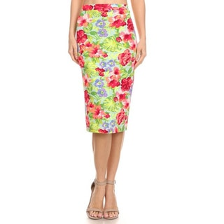 MOA Collection Women's Floral Skirt
