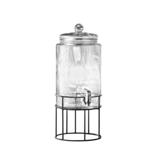 Style Setter Soho Artesia Clear Glass and Metal 250-ounce Beverage Dispenser