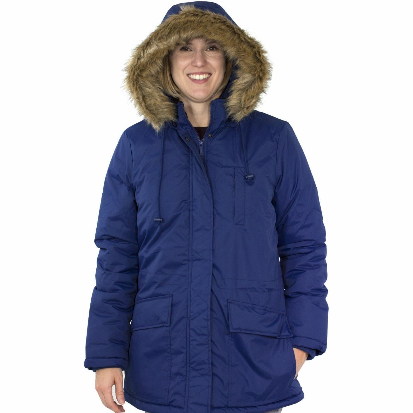 Totes Women's Anorak Parka Coat (Blue - XL) (polyester)