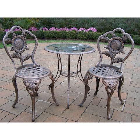 Auburn Antique Bronze Cast Aluminum 3-Piece Bistro Set