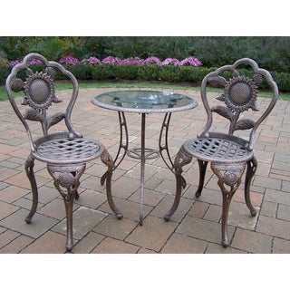 Auburn Antique Bronze Cast Aluminum 3-Piece Bistro Set