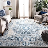 Safavieh Evoke Vintage Ivory / Blue Center Medallion Distressed Rug - 9' x 12'