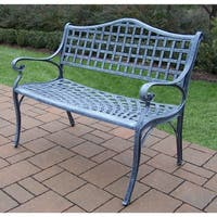 Oakland Living Corporation Merit Grey Cast-aluminum Settee Bench