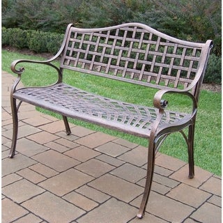 Oakland Living Corporation Merit Bronze Finish Cast Aluminum Settee Bench