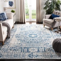 Safavieh Evoke Vintage Ivory / Black Center Medallion Distressed Rug - 8' x 10'