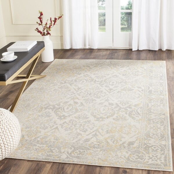 Safavieh Evoke Vintage Ivory Grey Distressed Rug 10 X