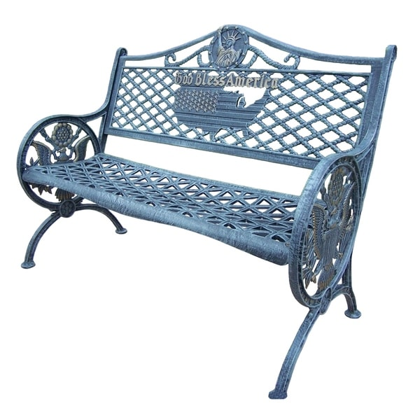 All-American Cast Aluminum Bench