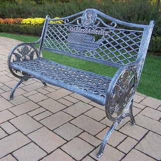 Oakland Living Corporation All American Cast Aluminum Garden Bench