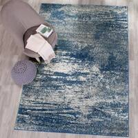 Safavieh Evoke Vintage Modern Abstract Navy / Ivory Distressed Rug - 10' x 14'