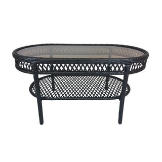 Oakland Living Corporation Merit Brown Resin Wicker Coffee Table