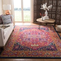 Safavieh Evoke Vintage Medallion Blue/ Orange Distressed Rug (8' x 10')