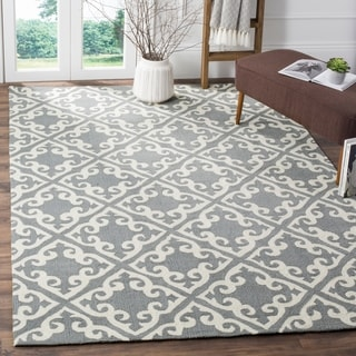 Safavieh Easy Care Traditional Handmade Grey/ Ivory Rug (9' x 12')