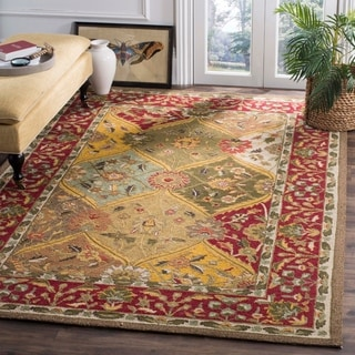 Safavieh Hand Hooked Easy To Care Multicolored/ Red Rug (8' x 10')