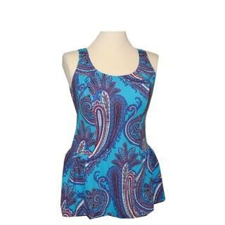 Women's Teal Paisley Swim Dress|https://ak1.ostkcdn.com/images/products/13298015/P20006537.jpg?impolicy=medium