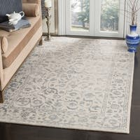 Safavieh Handmade Glamour Floral Silver/ Ivory Viscose Area Rug - 8' x 10'