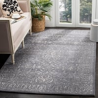 Safavieh Handmade Glamour Contemporary Steel/ Blue Viscose Rug - 8' x 10'