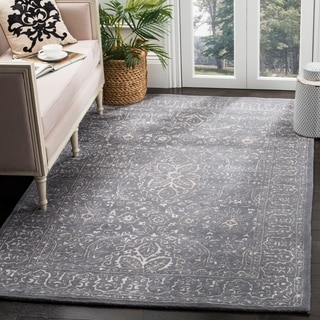 Safavieh Handmade Glamour Contemporary Steel/ Blue Viscose Rug (9' x 12')