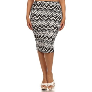 MOA Collection Women's Plus-size Chevron Skirt