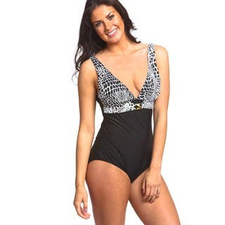 Women's Ally Empire Sash Spandex One-Piece Swimsuit With Matching Pareo|https://ak1.ostkcdn.com/images/products/13298030/P20006541.jpg?impolicy=medium