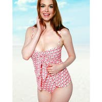 Women's 3D Nylon and Spandex One-Piece Wrap Swimsuit