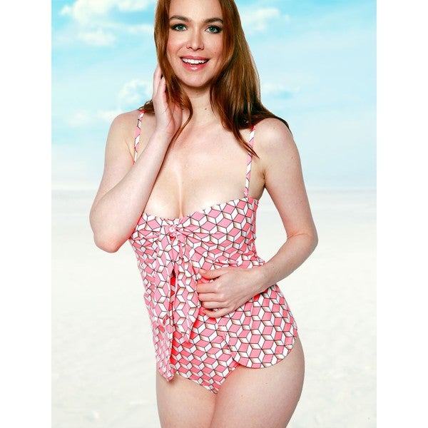 63632b73c7c06 Shop Women s 3D Nylon and Spandex One-Piece Wrap Swimsuit - Free Shipping  Today - Overstock - 13298034