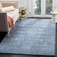 Safavieh Handmade Glamour Contemporary Grey/ Blue Viscose Rug - 9' x 12'