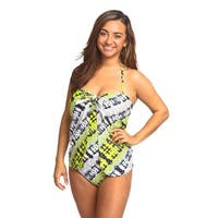 Women's Gypsy 1-piece Fluorescent Overlay Swimsuit