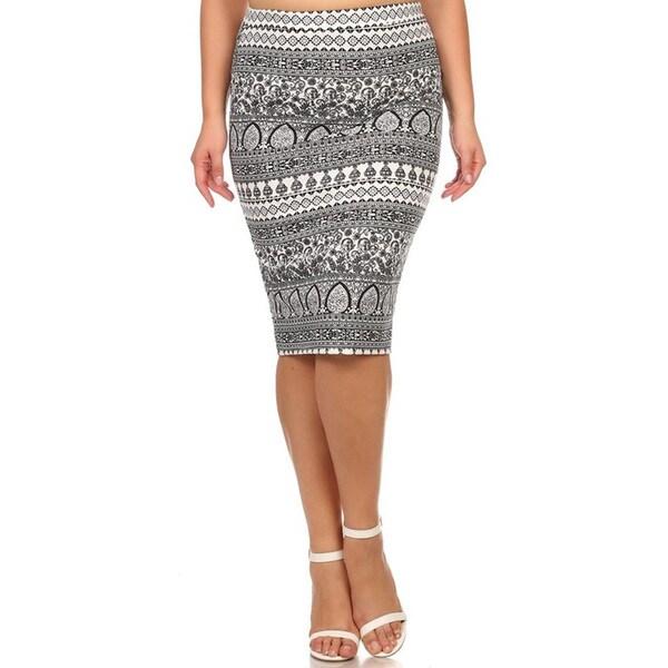 0e3898a5abf Shop MOA Collection Women s Floral-stripe Plus-size Skirt - Free ...